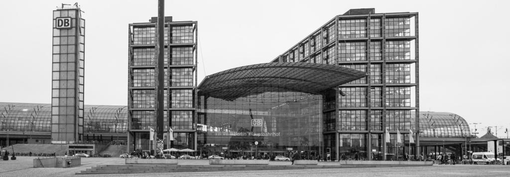 Main entrance to Berlin's Hauptbahnhof (Main train station)