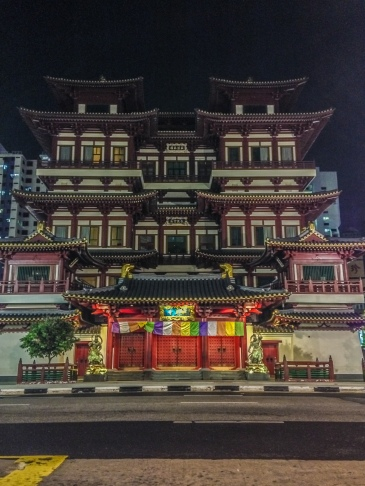 Taken from my iPhone and then processed. A large building in Chinatown,.