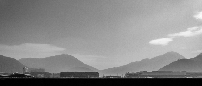 Leaving Hong Kong was clearer than arriving - here is the airport.