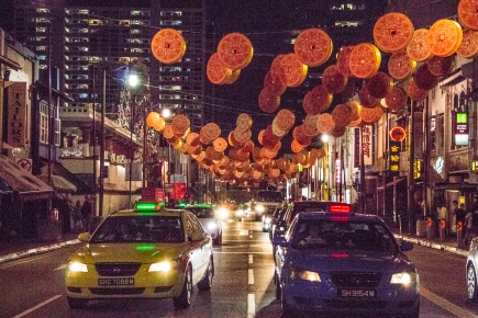 Chinatown was decorated for the Chinese New Years