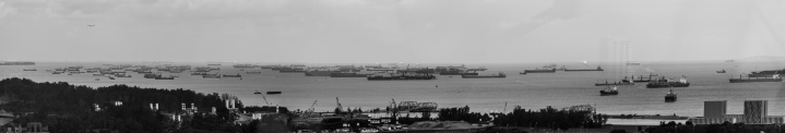 My very first impression was the number of ships in the harbor - unbelievable.