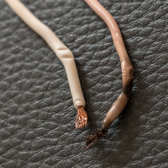 These wires used to be the same color.