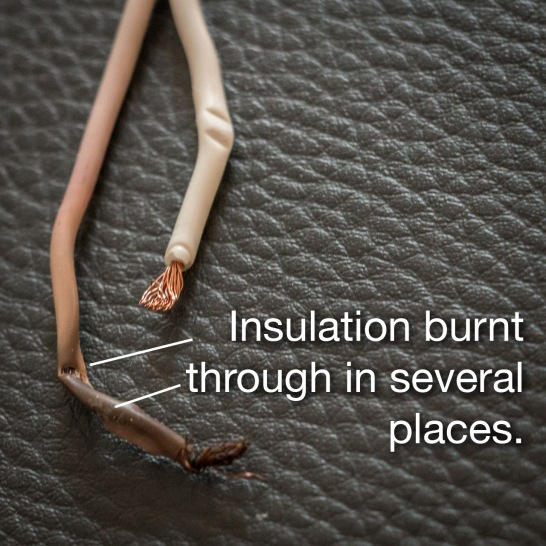 Detail of Burnt Wiring