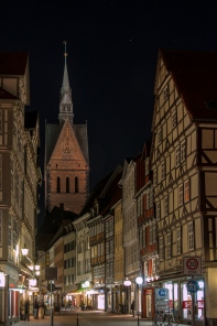The Altstadt, or old city, still has some very old half-timber homes mixed in with the ones that were reconstructed after the war.