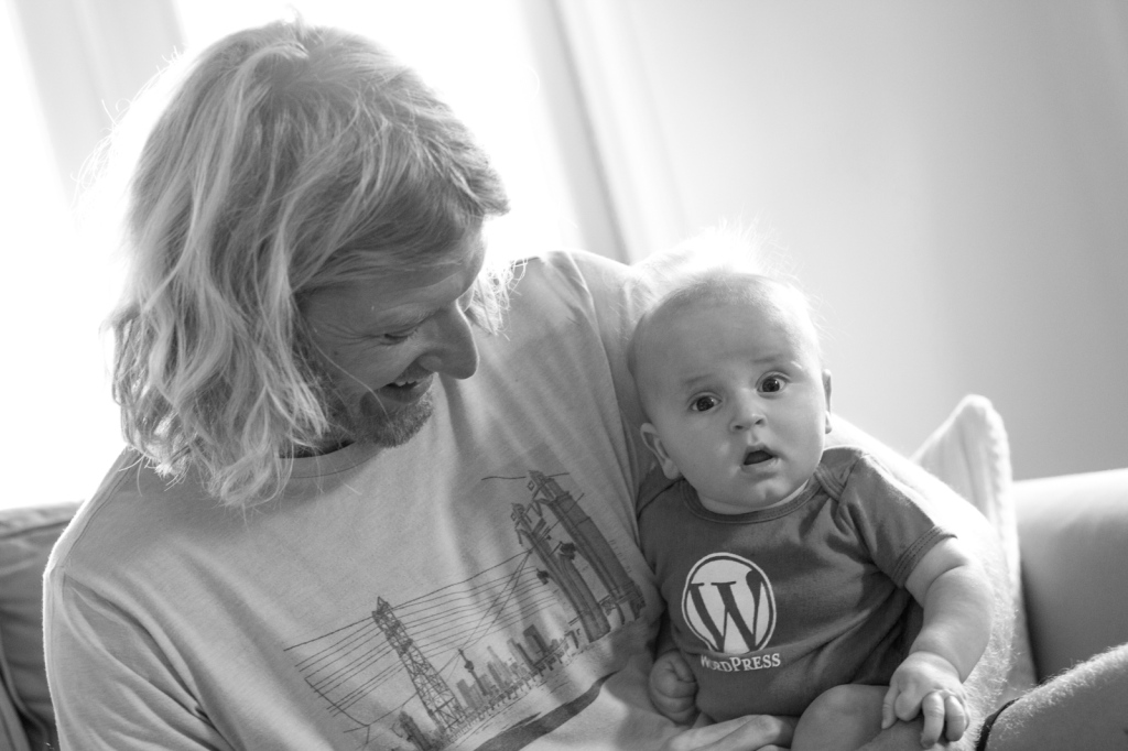 Nick and his future WordPress blogger.