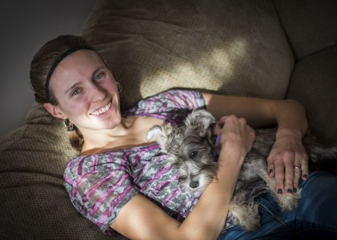She's a great dog for the kids (and Mandi): loves to be held but energetic and happy.