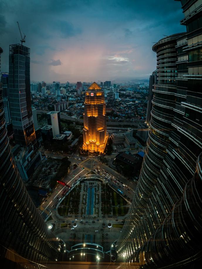 Kuala Lumpur, from the bridge between the two Petronas Towers